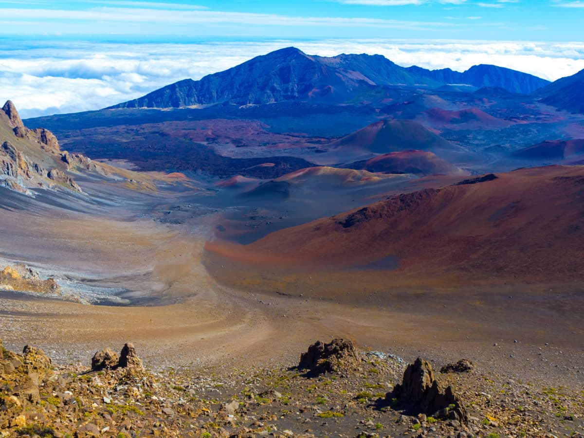 Haleakala is one of the world's largest volcanic craters.