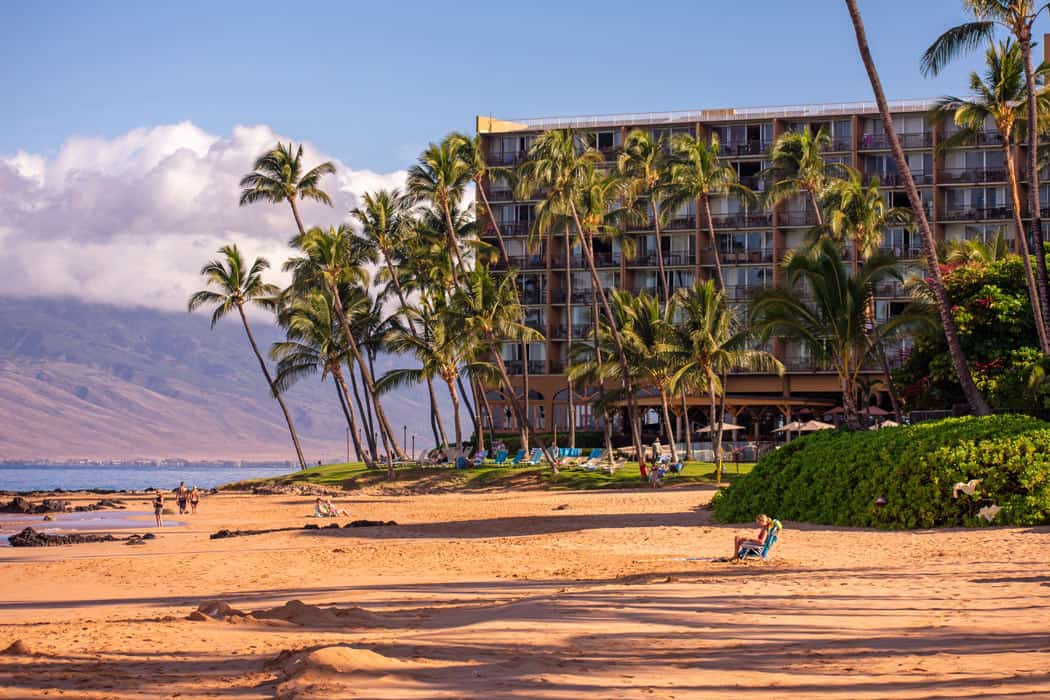 The golden sand beaches and calm swimming waters in Kaanapali make this area a great place to stay in Maui