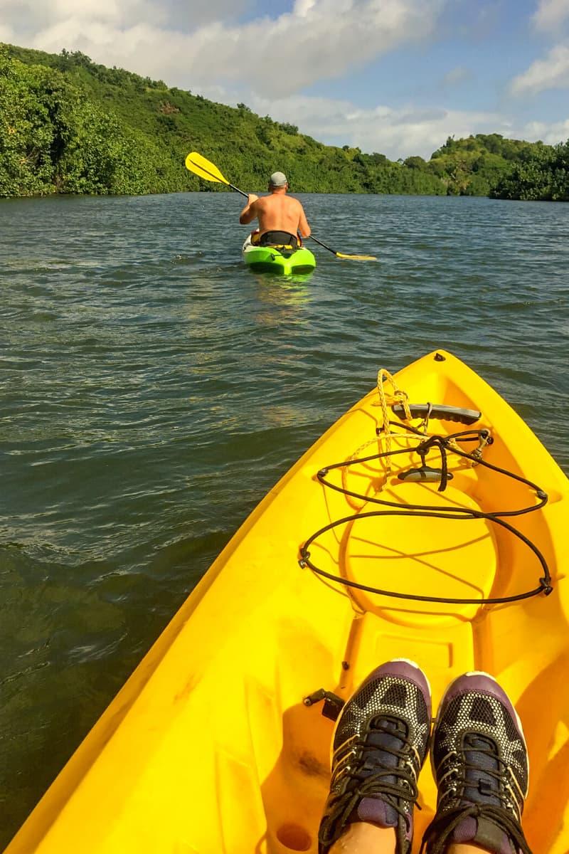Kayaking the Wailua River in Kauai