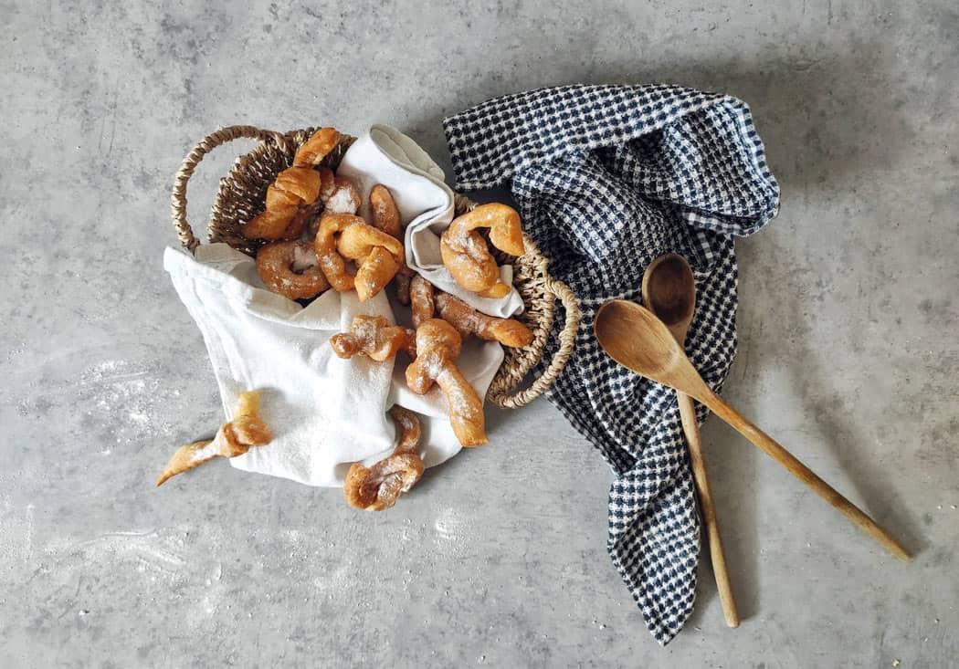 Krostule are sweet pastry knots from Croatia.