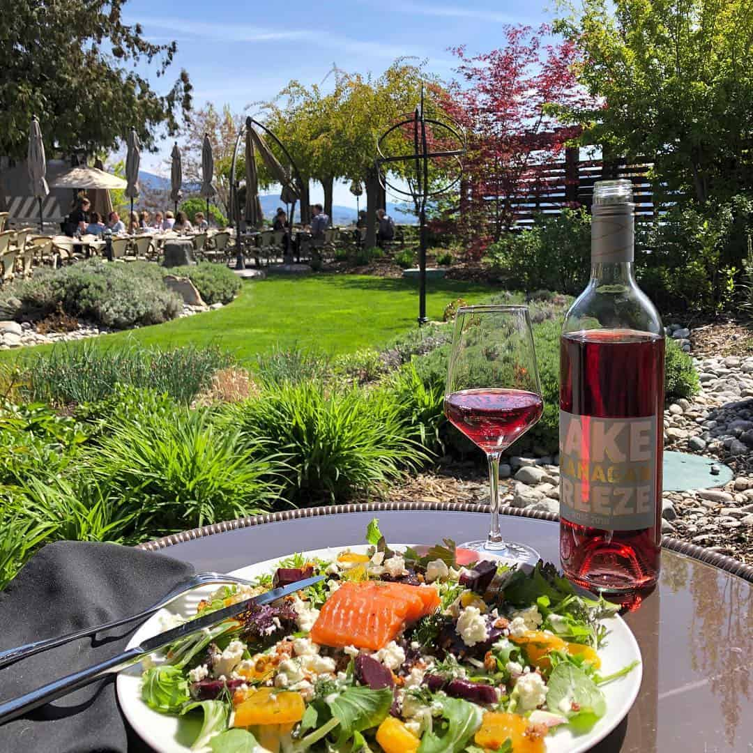 The Patio at Lake Breeze is one of the best Naramata winery restaurants with an outdoor patio.