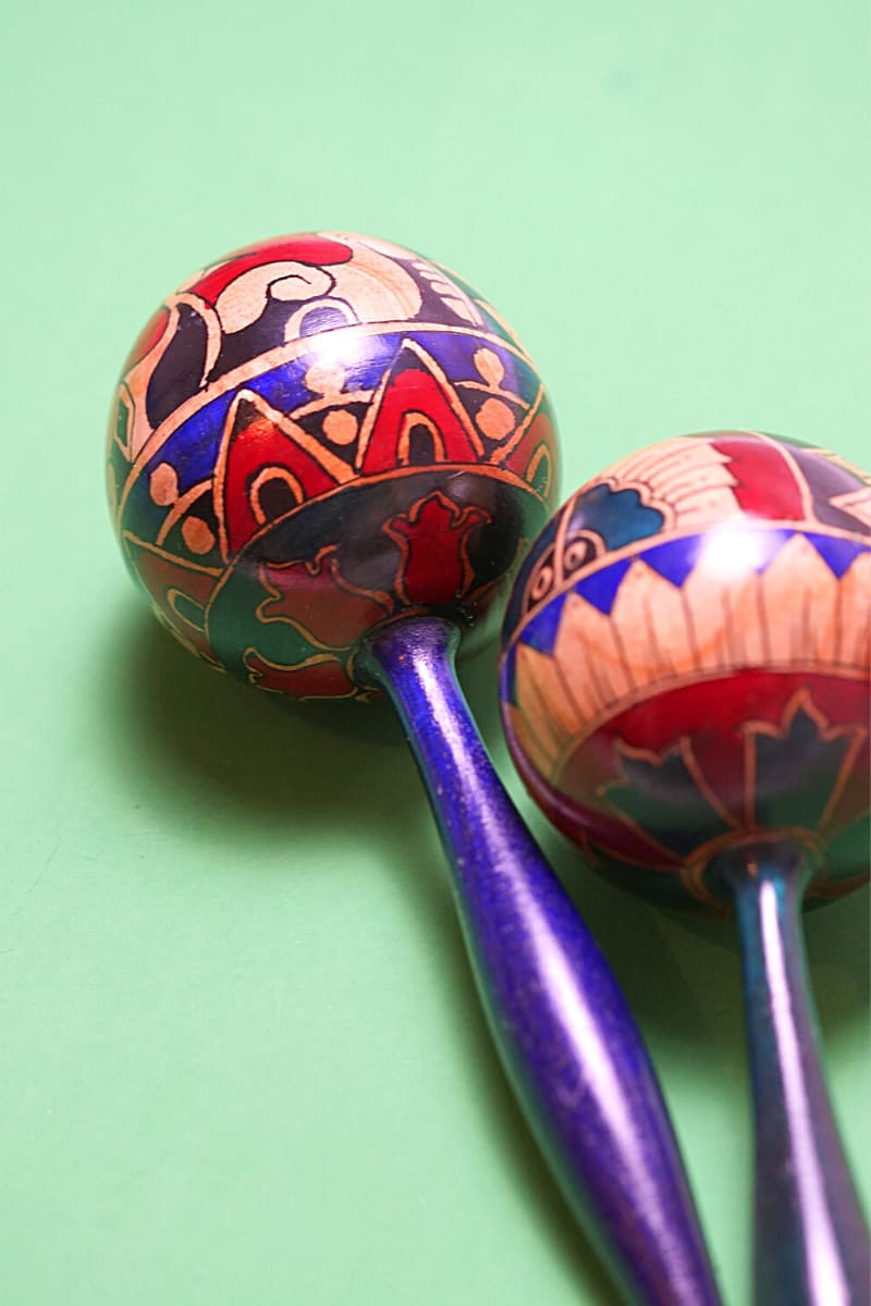 Maracas (Mexican music shakers) are among the top souvenirs from Mexico.
