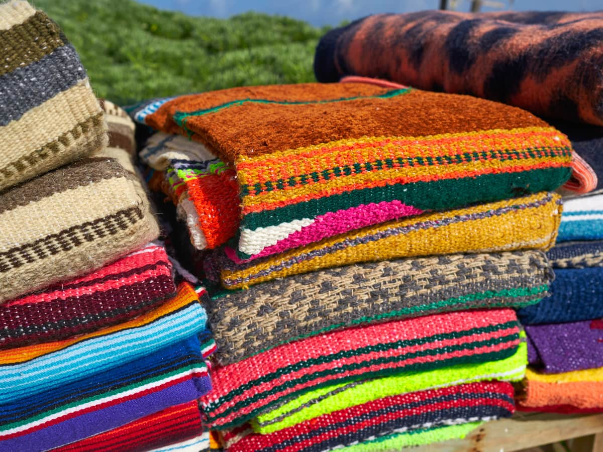 Mexican blankets should be at the top of your list of the best things to buy in Mexico!