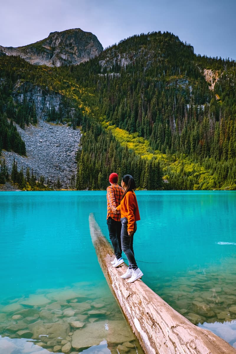 Each of the three Joffre Lakes is more beautiful than the last; this is Middle Lake.