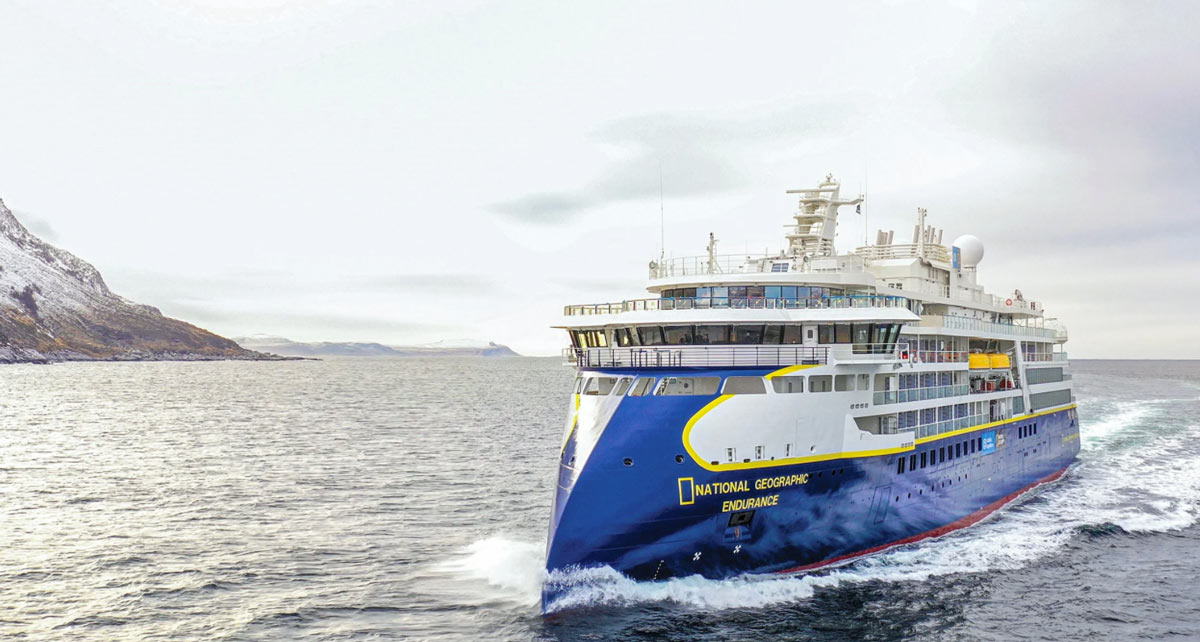 The National Geographic Endurance is a new ice-class expedition vessel, purpose-built to navigate the North and South Poles, year-round.