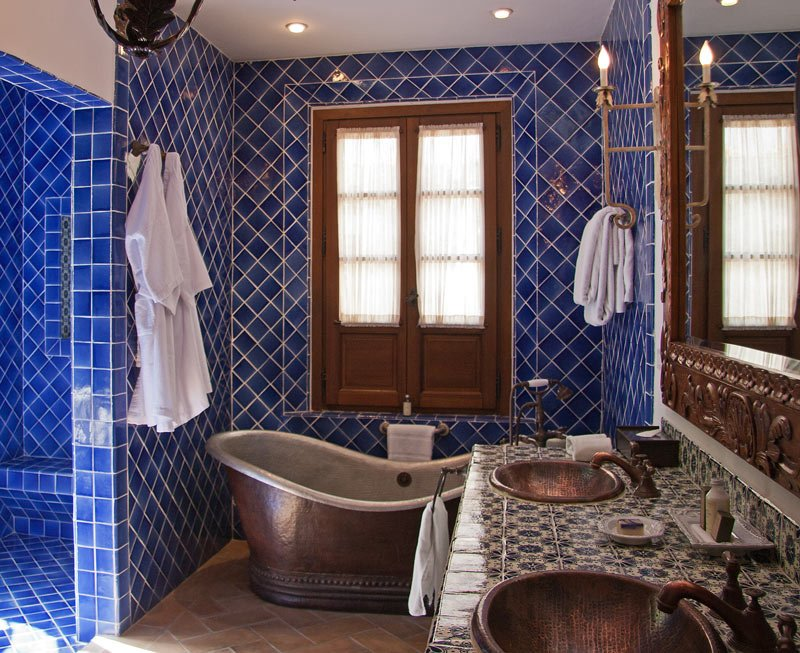 We're more shower people, but this copper tub does look inviting, right?