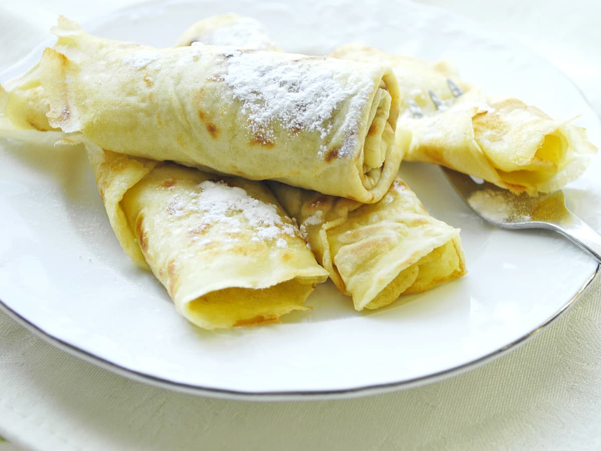 Palacinke is the Croatian version of pancakes.