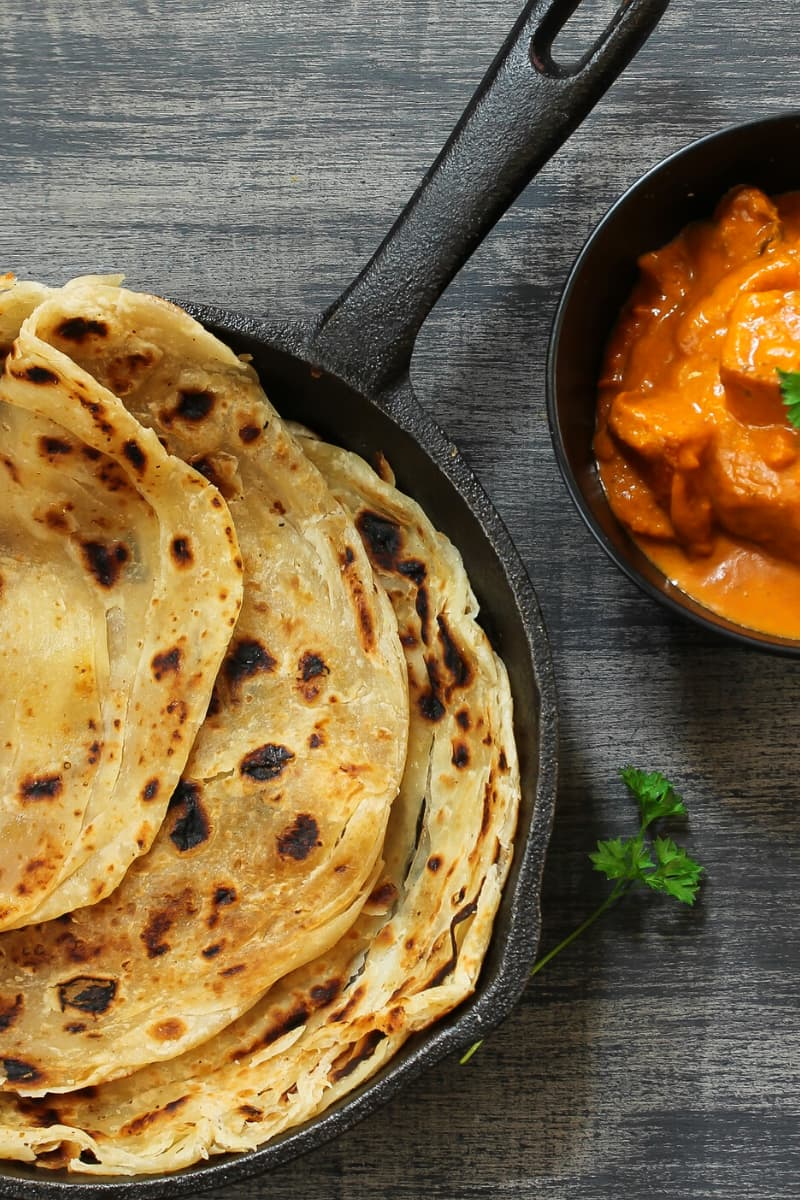 A staple in many Indian households, paratha is a type of Indian bread.