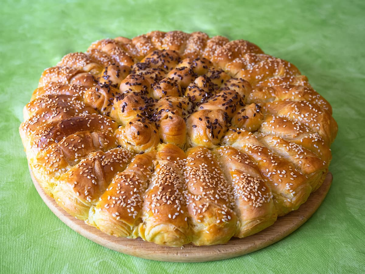 Pogaca cake is actually more like a sweet Croatian bread.