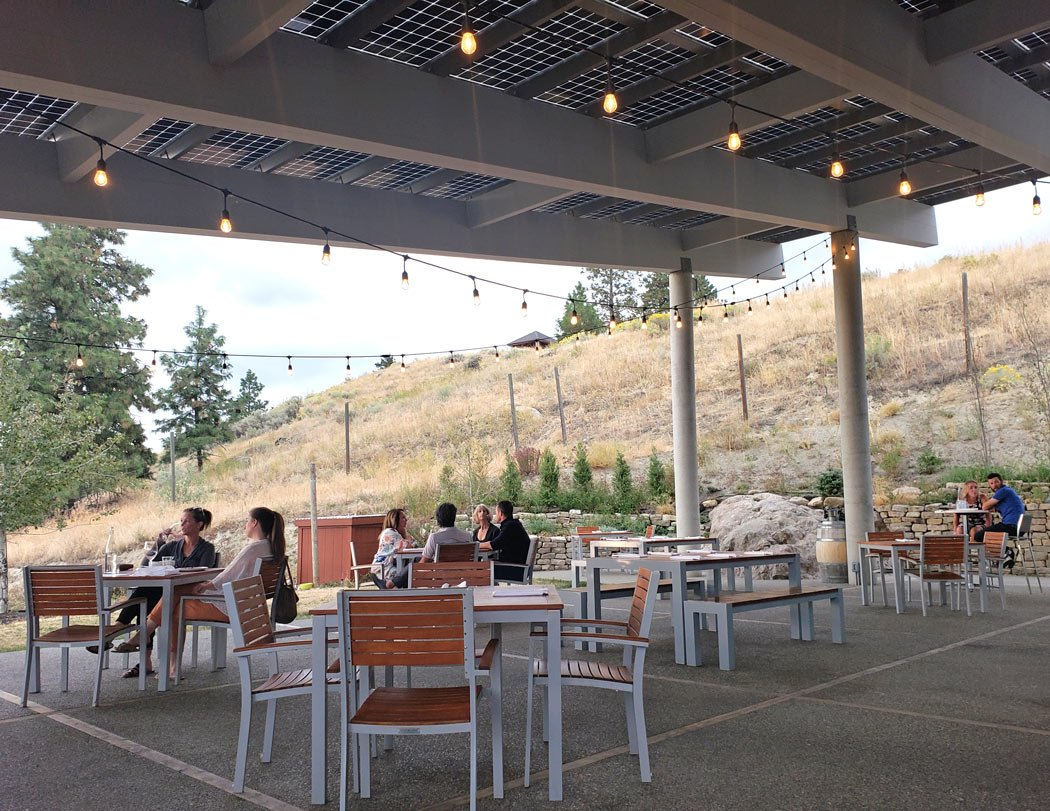 The views from the extensive patio at the Poplar Grove Restaurant are breathtaking!