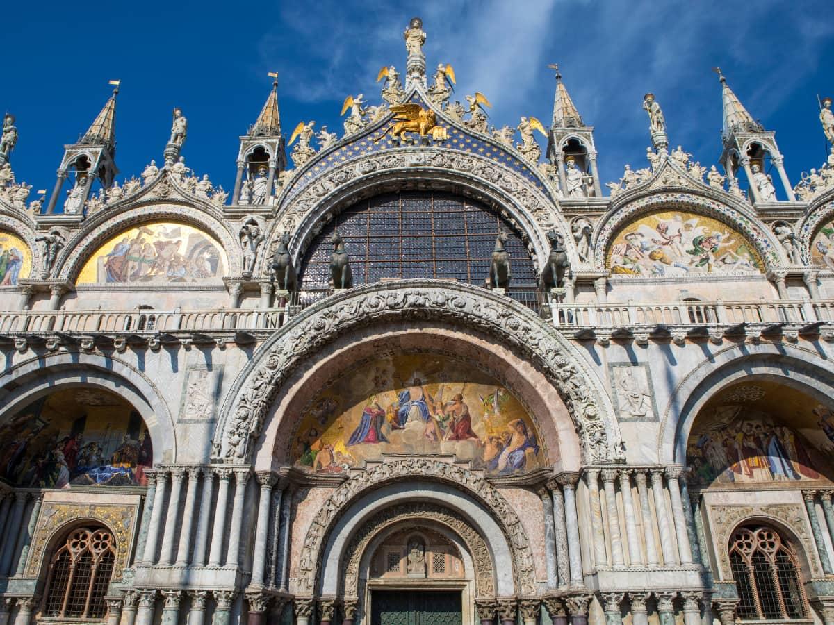 Domes, arches and turrets of the Basilica di San Marco, Venice