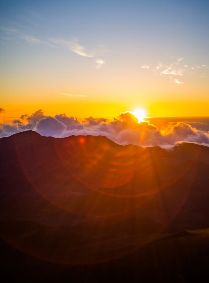 It's worth waking up at 2:00 am to see the sun rise over Haleakala.