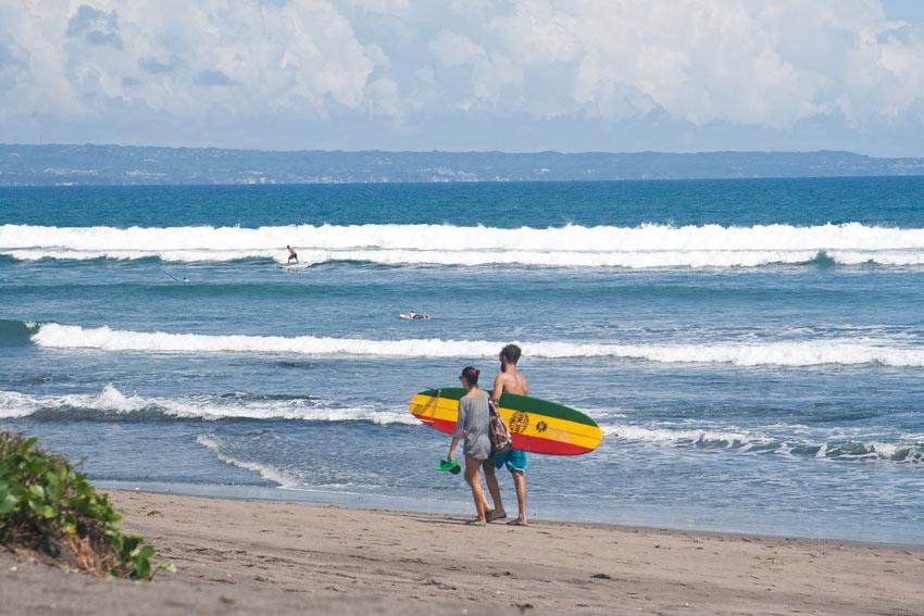 Surfing at Canggu Beach, Bali