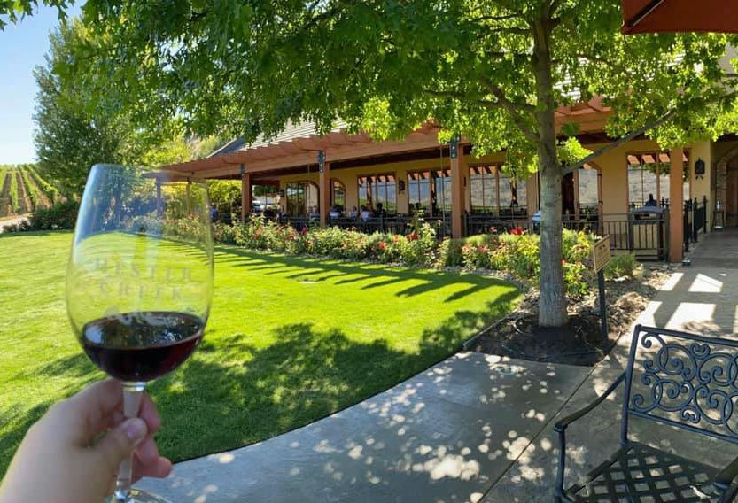 The Terrafina restaurant at Hester Creek offers a vineyard dining experience.
