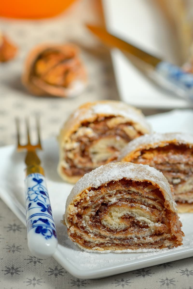 Orehnjaca is a Croatian walnut roll.