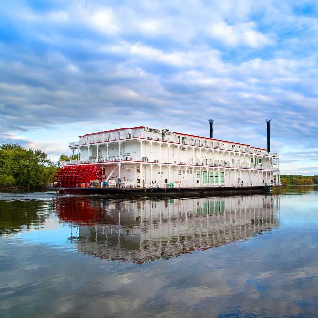 The American Duchess is a beautiful boutique-style paddlewheeler offering American river cruises.