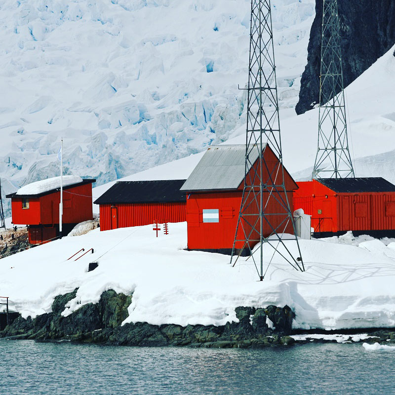 Argentine research station at Paradise Bay, Antarctica