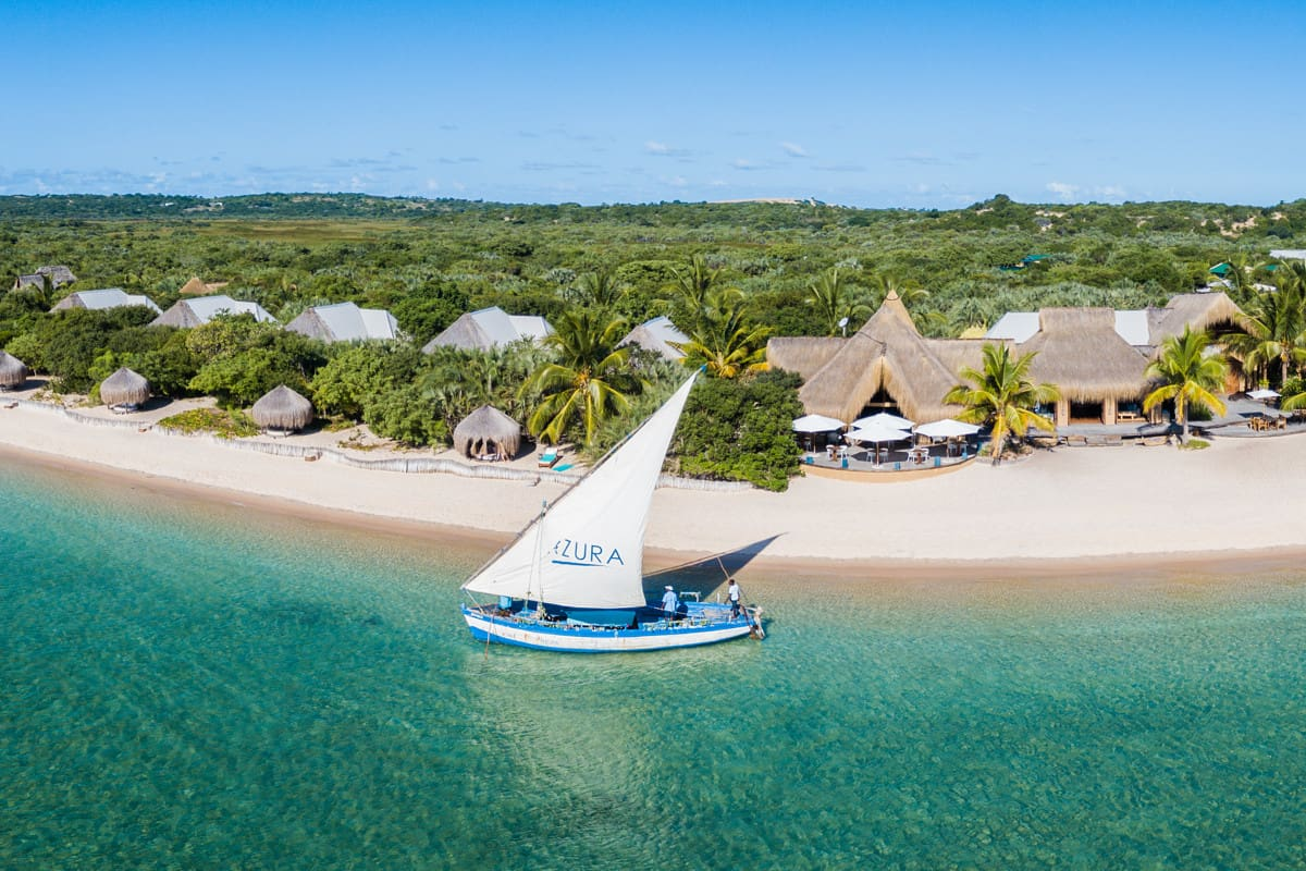 Azura Benguerra is a deluxe Mozambique resort on an unspoilt island with beautifu beaches.