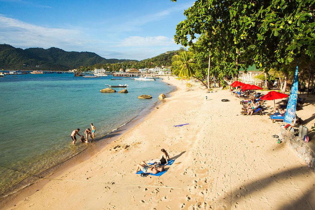 Sensi Paradise Beach Resort has lovely bungalows in Koh Tao – plus a great beach.