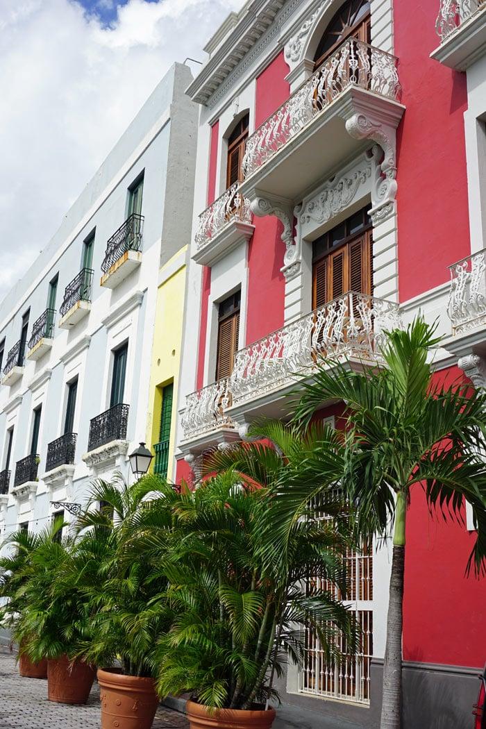 Colorful buildings in Old San Juan, Puerto Rico