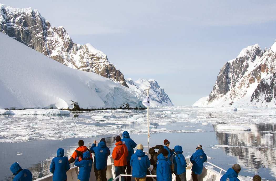 Cruising through ice and snow in Antarctica's spectacular Lemaire Channel