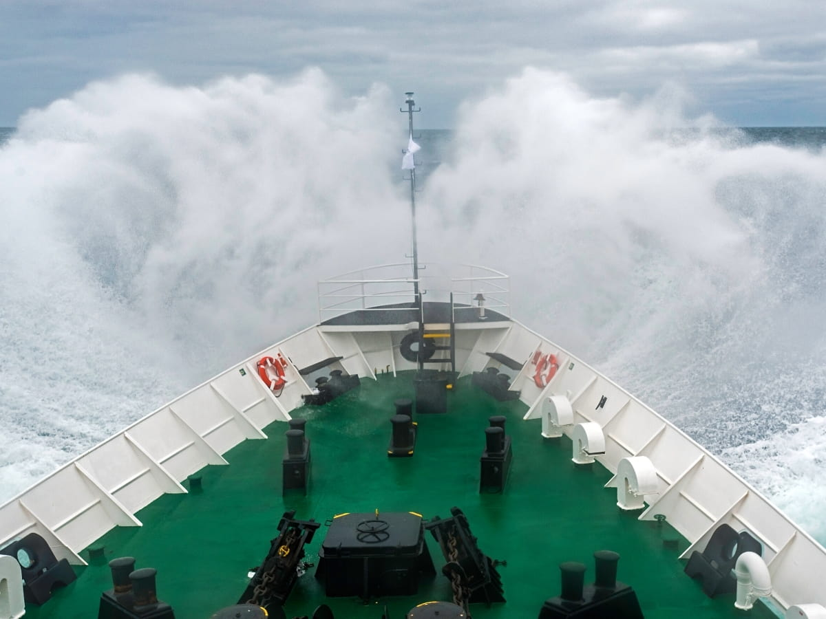 Yes, the Drake Passage can be wickedly rough.