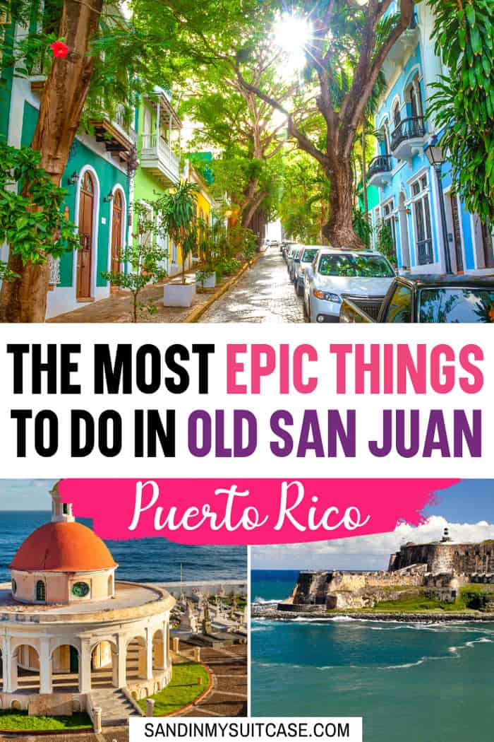 What to do in Old San Juan? Plenty! Stroll the cobblestone streets, explore El Morro fort and drink pina coladas! Check out all the best things to do in Old San Juan, Puerto Rico here.