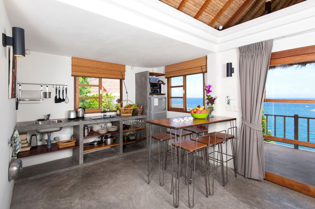 The kitchen of the Trevally House at Fisherman's Villas, Koh Tao