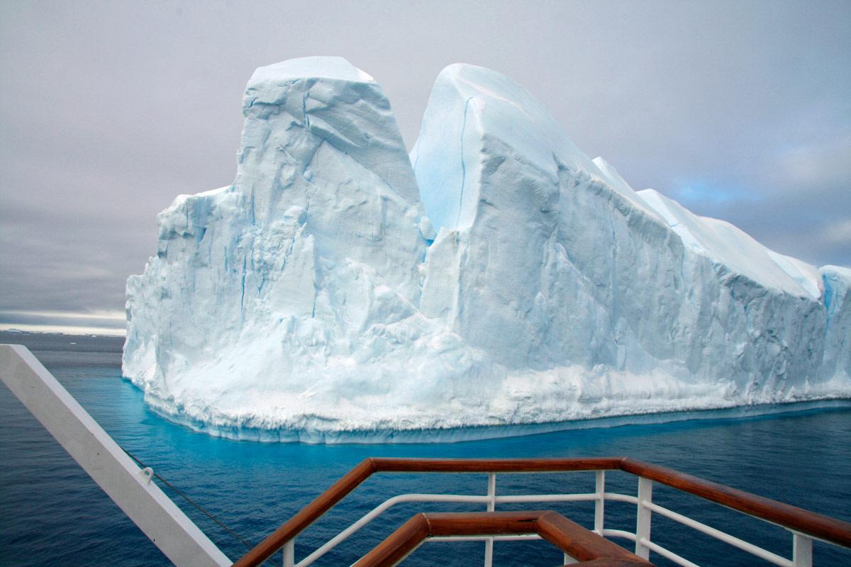 Ginormous icebergs travel along Iceberg Alley in Antarctica