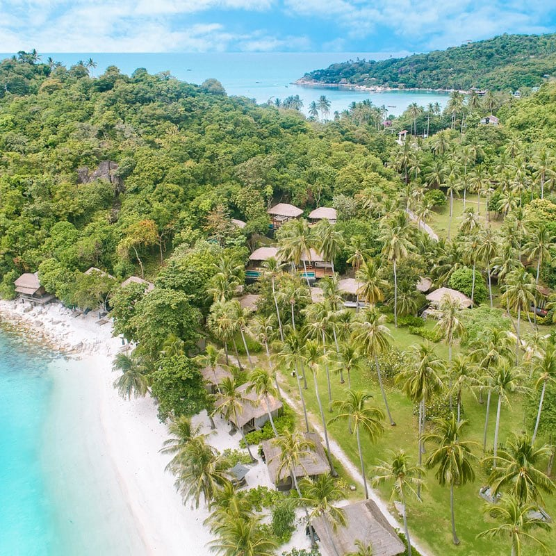 The Haad Tien Beach Resort fronts the most beautiful beach in Koh Tao.