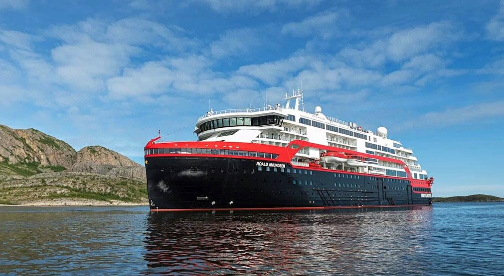 Explore the globe in comfort on Hurtigruten's new expedition cruise ship, MV Roald Amundsen.