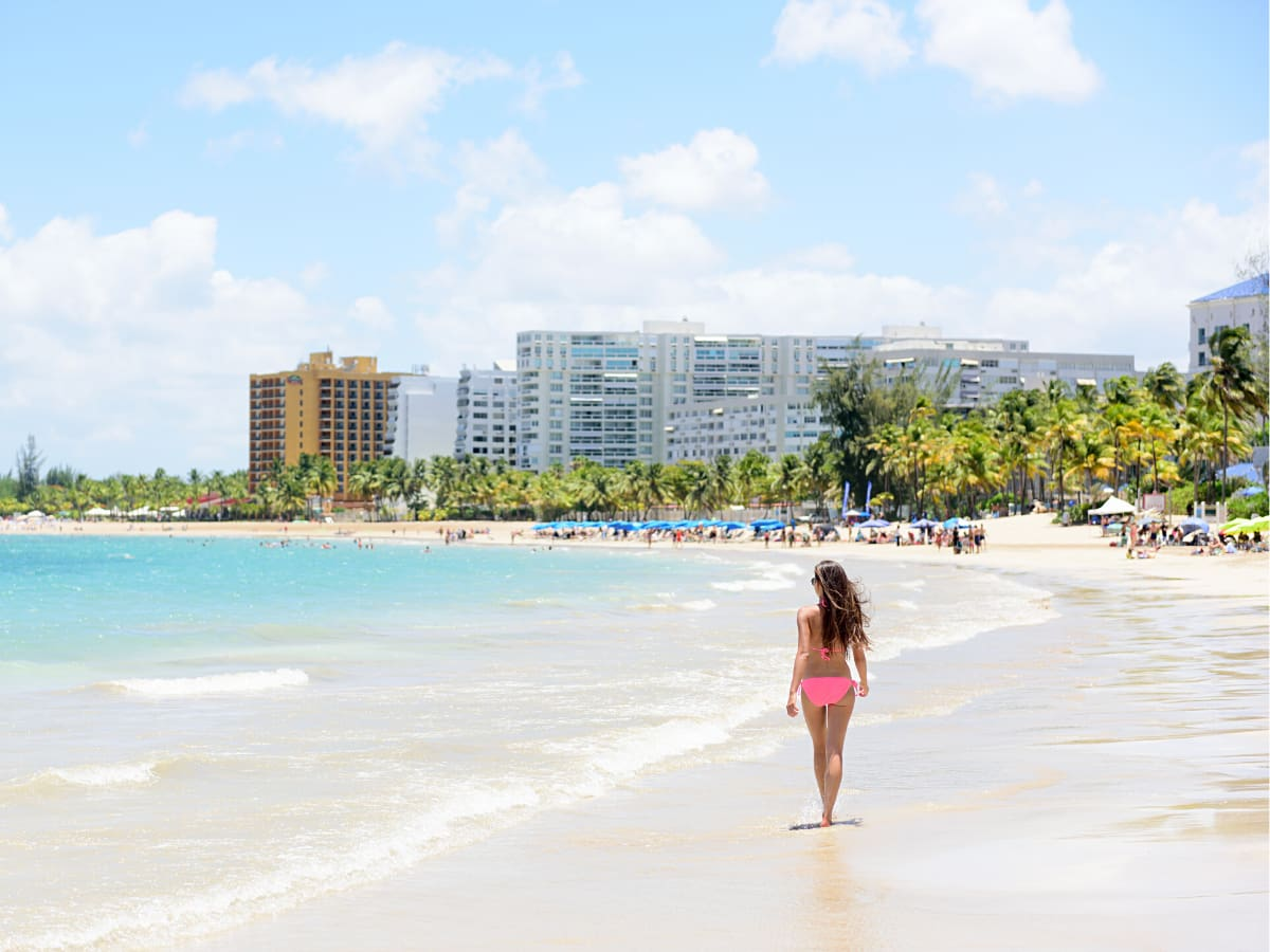 One of the most beautiful beaches in Puerto Rico is at Isla Verde.