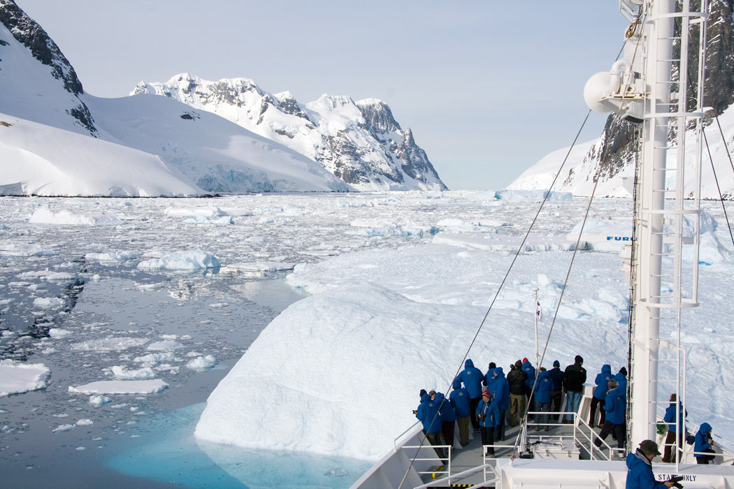Hmmm... There's a big iceberg in the way in the Lemaire Channel