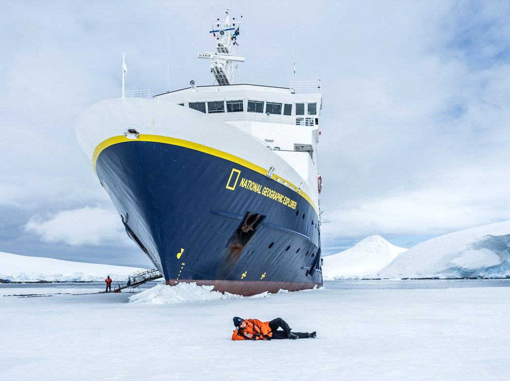The National Geographic Explorer is one of Lindblad Expeditions' Antarctica ships.