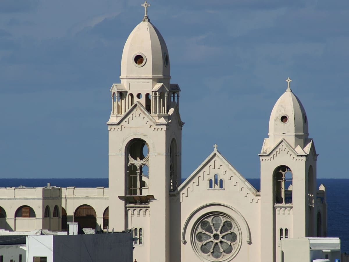 The oldest cathedral in the United States is the Cathedral of San Juan Bautista in Old San Juan, Puerto Rico.