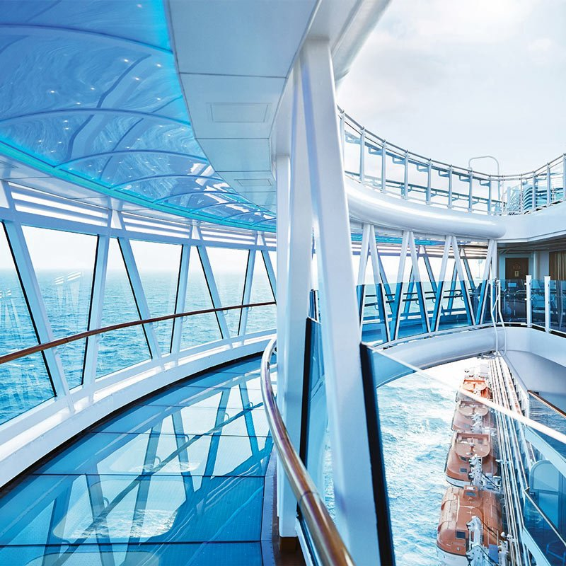 This glass walkway on the new Enchanted Princess isn't for the faint of heart.