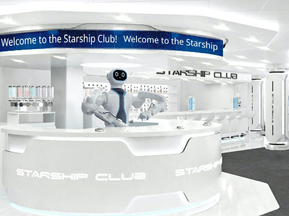 Hey, there's a robot bartender mixing drinks on MSC Cruises' newest ship!