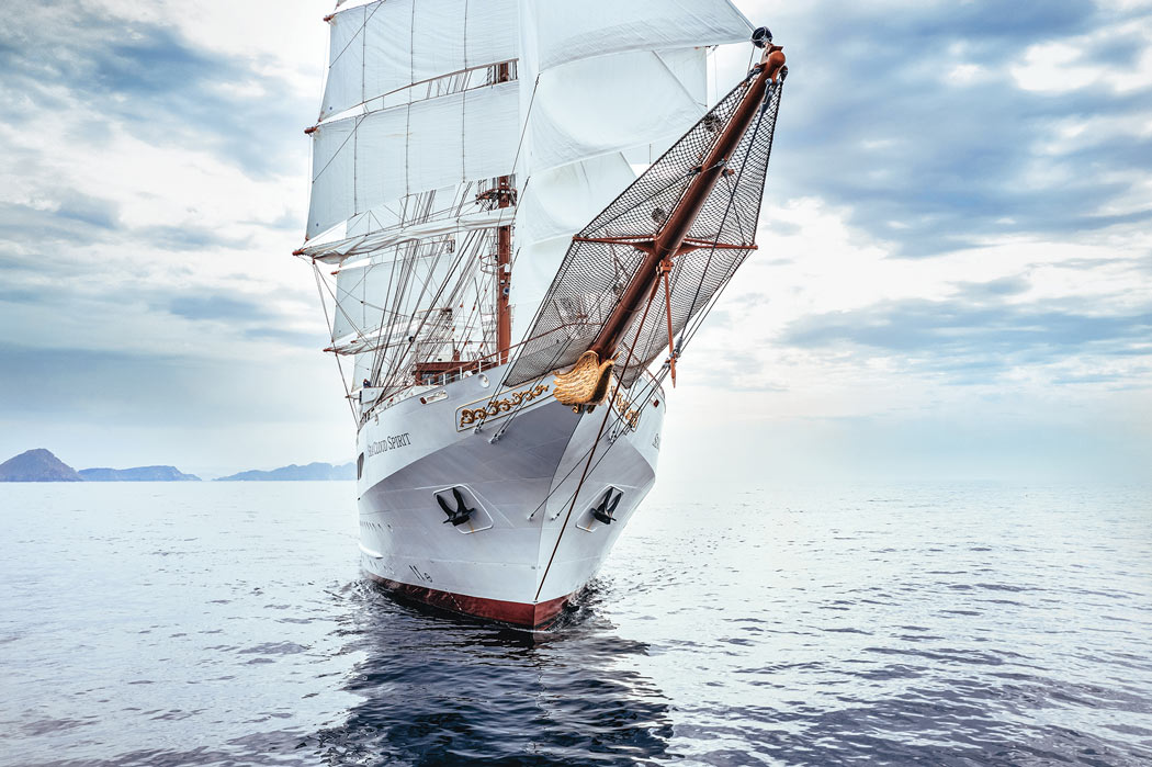 The beautiful Sea Cloud Spirit is one of the best new cruise ships for sailing afficionados.