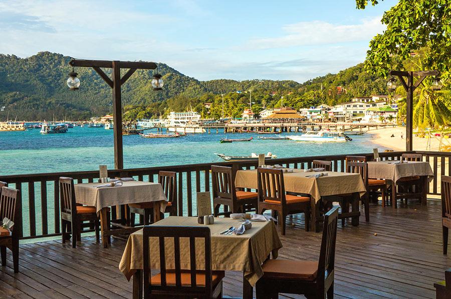 Seaview restaurant at Sensi Paradise Beach Resort, Koh Tao