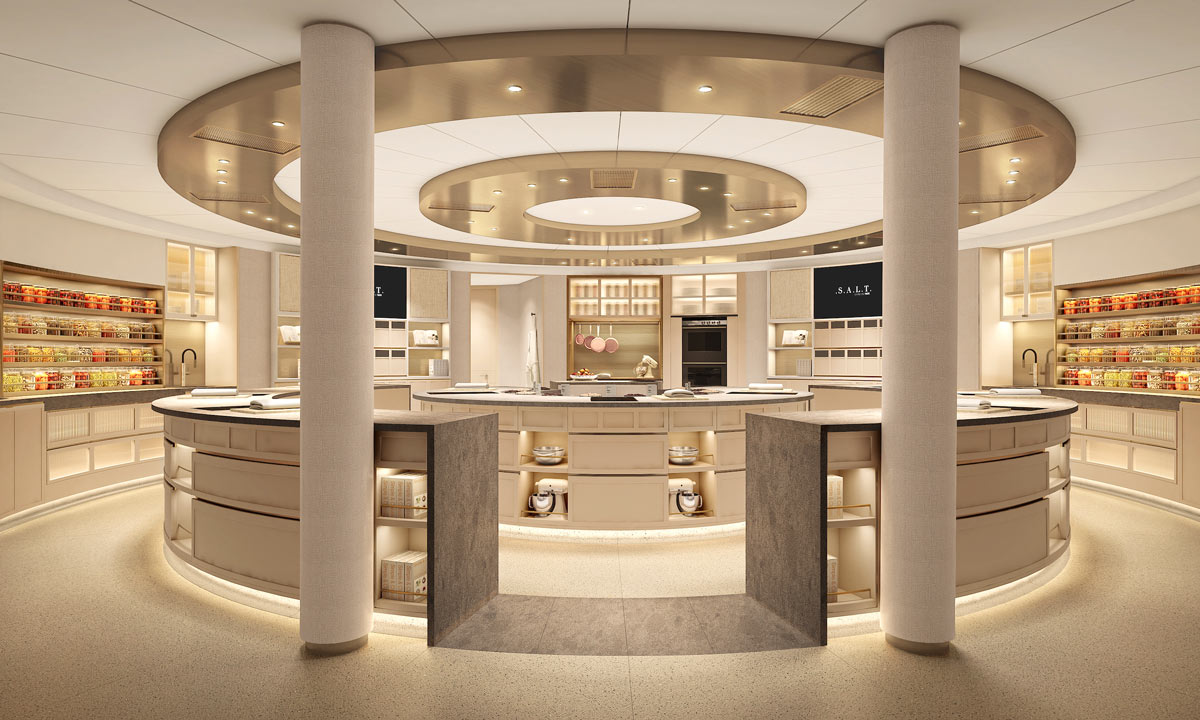 Silversea's S.A.L.T. lab onboard the Silver Moon takes culinary experiences to a new high.