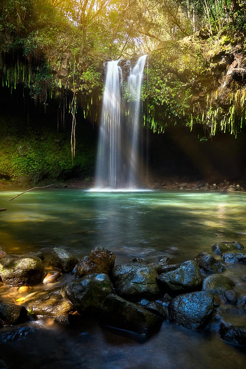 Twin Falls are one of the most pictureseque waterfalls on the Road to Hana.