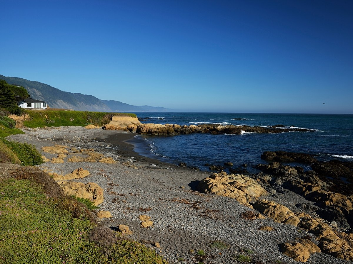 Crowds are few along the rugged Lost Coast near Shelter Cove, California.