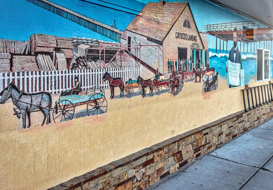 The Cayucos murals display everything from Wild West scenes to waterscapes.