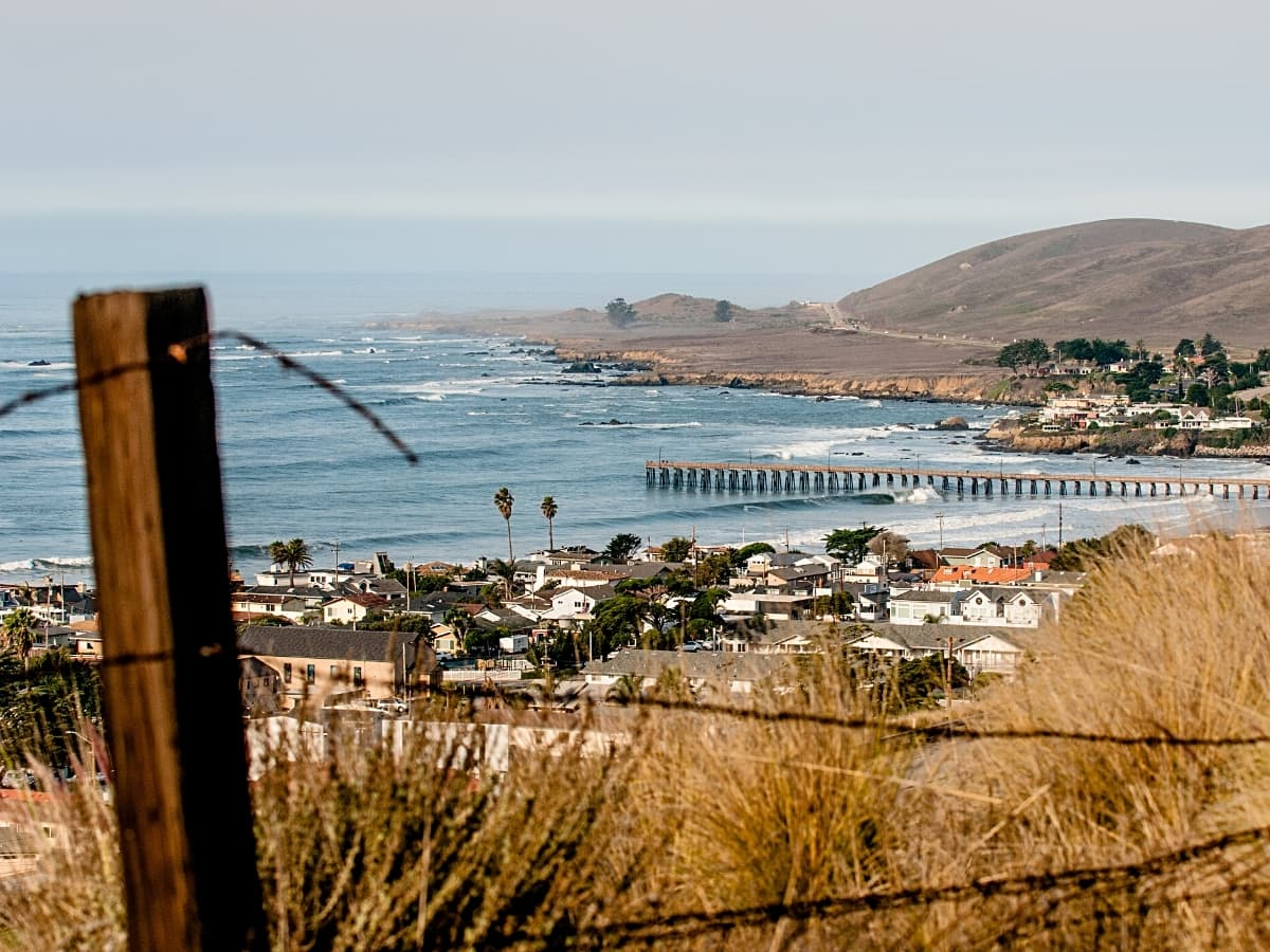 Big on surfing, Cayucos is a mellow little beach town in Northern California.
