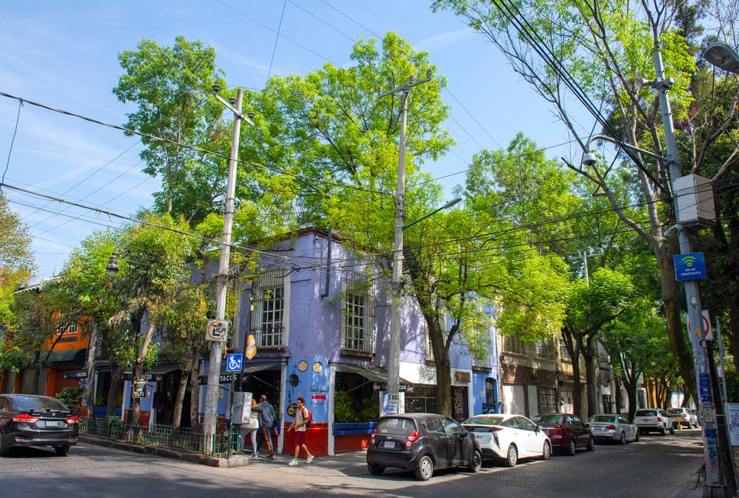 Coyoacan is a charming neighborhood to explore in Mexico City!