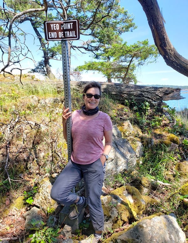 End of Yeo Point Trail on Salt Spring Island