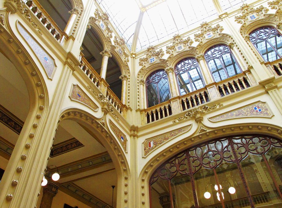 Be sure to pop inside the opulent Postale Palace when you visit the historical center of Mexico City.