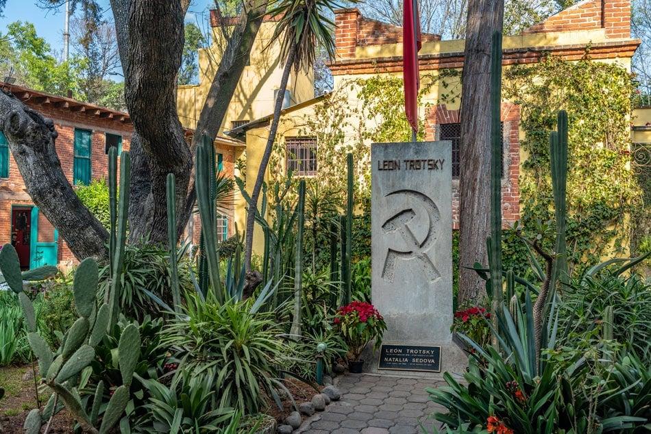 Leon Trotsky's tomb at the Leon Trotsky House Museum