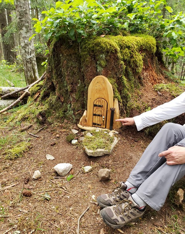 Go hiking on Salt Spring Island up Mount Erskine and you'll see fairy doors.