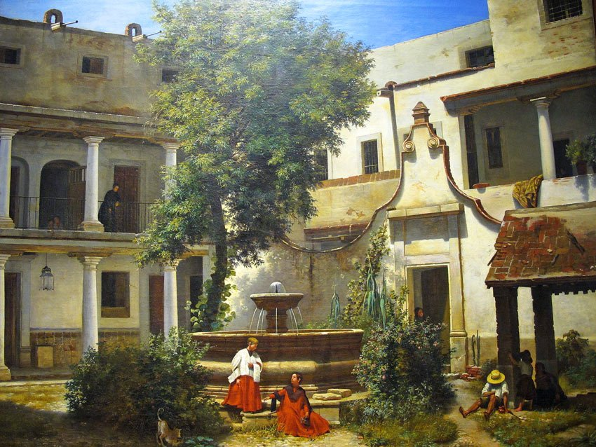 Oil painting by Jose Maria Velasco in the National Museum of Art, Mexico City